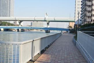 河川側遊歩道 トーア辰巳マンション