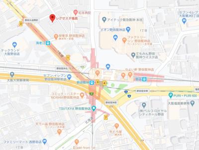 【地図】レグゼスタ福島