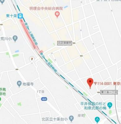 【地図】グラントゥルース東十条