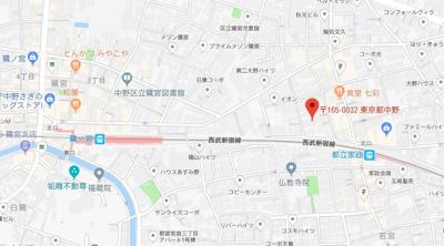 【地図】ベルフォルム鷺宮