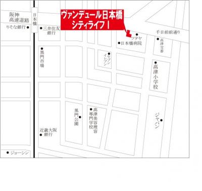 【地図】ヴァンデュ―ル日本橋City Life