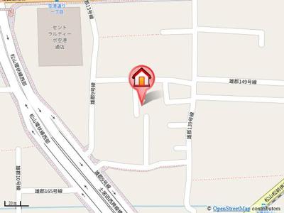 【地図】空港荘