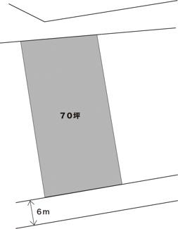 【土地図】館山小0分の住宅用土地
