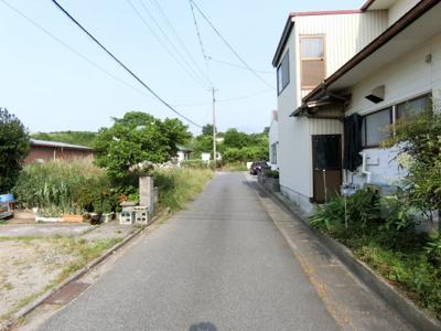 【前面道路含む現地写真】米子市福万 売土地1