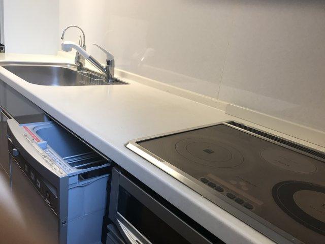 使いやすいキッチンです。二階のミニキッチンになります。二世帯住宅としてもお使いいただけます。
