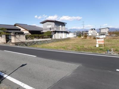 【前面道路含む現地写真】飯野新田123坪売地