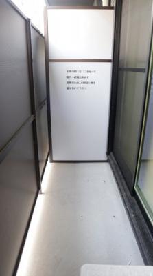 【バルコニー】モダンアパートメント神戸湊川