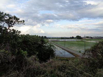敷地内から東方向の眺望