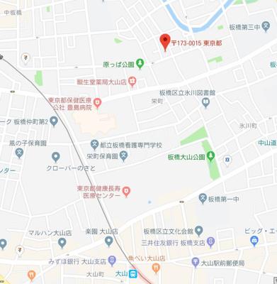 【地図】スカイコート板橋区役所前