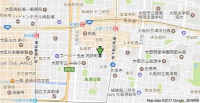 【地図】アネスト谷町