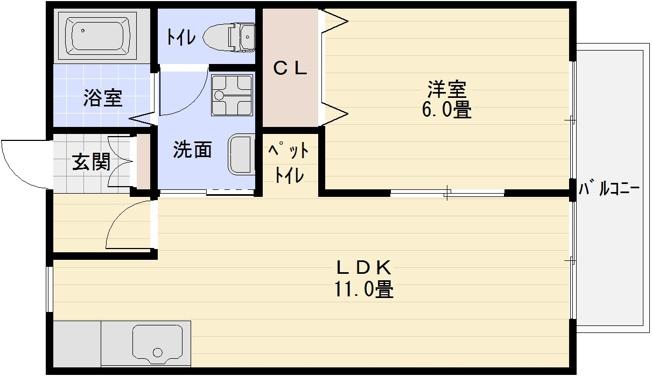 ブエナアビテート(八尾市太田・八尾南駅) 1LDK