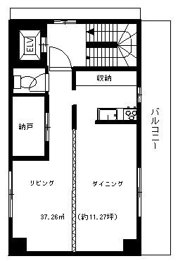 2階の間取りになります。