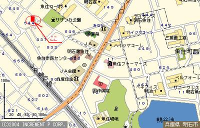 【地図】グリーンハイツ544