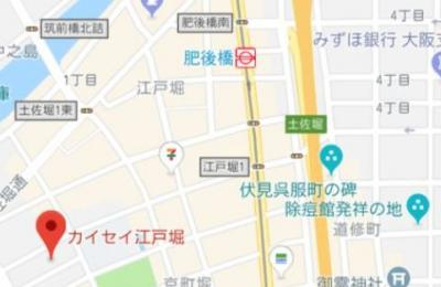 【地図】KAISEI江戸堀