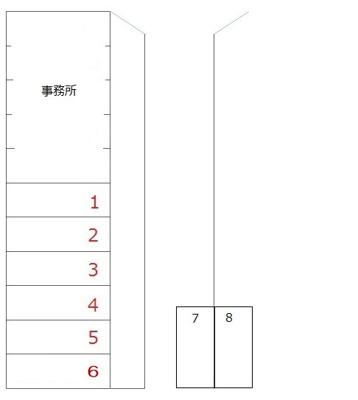 【区画図】№408駐車場