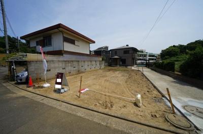 【外観】土地面積46.43坪!カースペース3台♪高低差なし。保土ヶ谷区上菅田町 売地