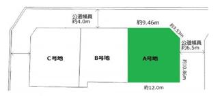 【土地図】箕面2丁目売土地 B号地