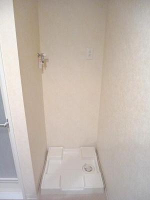 BPRレジデンス蔵前の洗面室に洗濯機置場便利です