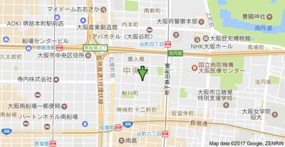 【地図】上本町ハイツ