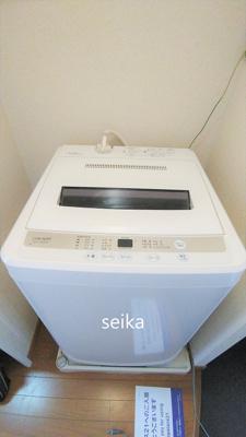 洗濯機も最初から設置されすぐ使えます。