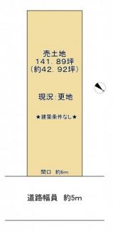 【土地図】近江八幡市縄手町中 売土地
