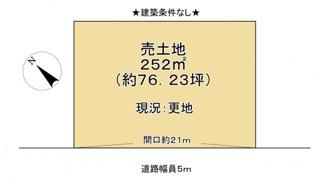 【土地図】近江八幡市野村町 売土地