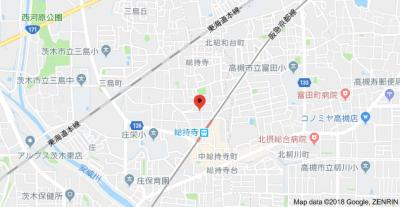 【地図】ブルーム茨木