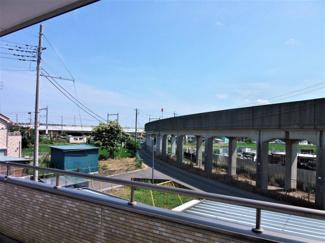 ベランダから新幹線見えますよ(*'▽')