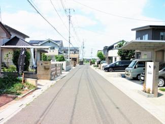 前面道路は広々5.1m、接道接面約17m