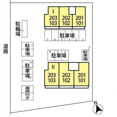【区画図】セジュール片町 Ⅰ