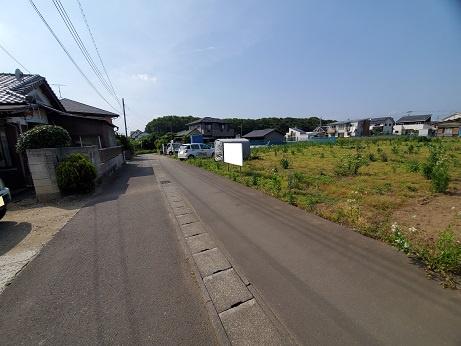 【前面道路含む現地写真】東海村船場6区画土地