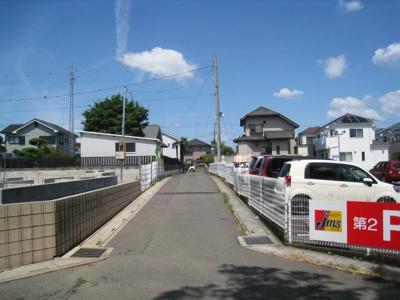 前面道路含む現地写真です 3.4号棟