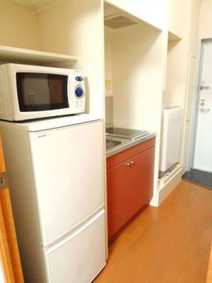 冷蔵庫・電子レンジ備え付き