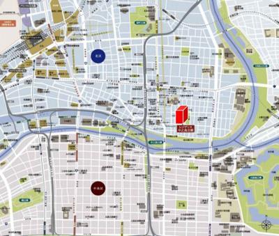 【地図】レジデンス中之島公園