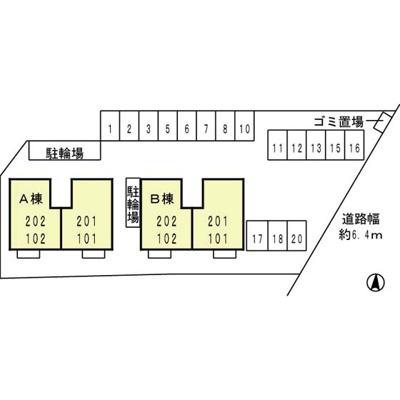 【区画図】プランドール賀茂A棟