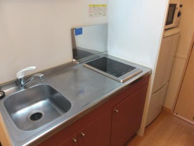 【キッチン】レオパレス一水