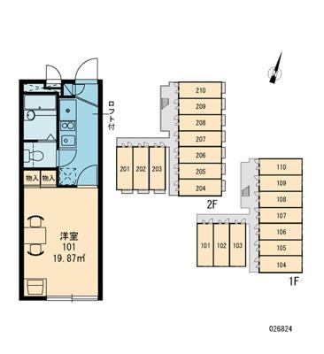 【区画図】オパレスルーメット中之茶屋