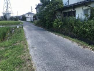 【前面道路含む現地写真】野洲市六条 売土地