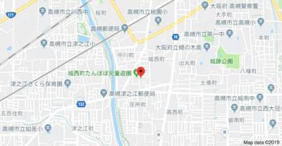 【地図】城西ハイツ2