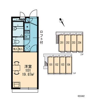 【区画図】レオパレスハイツK5