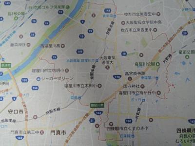 寝屋川市全域地図