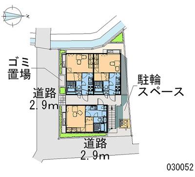【地図】レオパレスTWINKLE