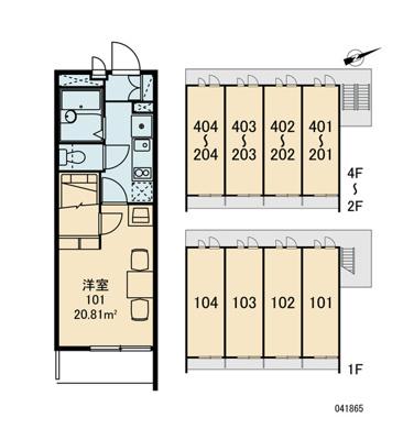 【区画図】レオパレス鳴尾A