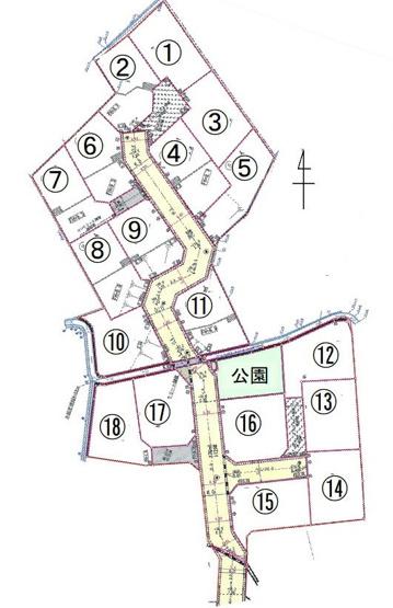 【土地図】甲斐市龍地18区画