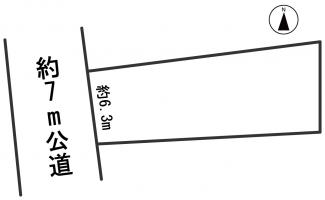 【区画図】54475 岐阜市高岩町土地