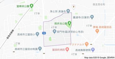 【地図】ハイツ富田 (株)Roots