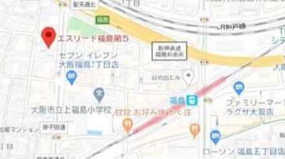【地図】エスリード福島第5