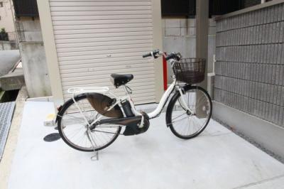 電動自転車ついてきますよ!