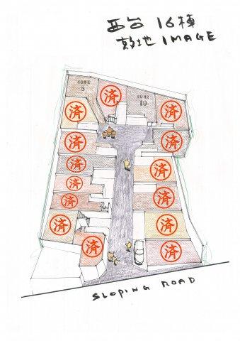 高台に並ぶプロヴァンス住宅16邸☆ 西台駅徒歩13分 大型開発分譲地☆の画像
