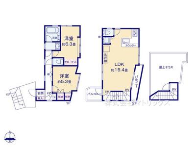 5号棟 参考プラン 3LDK+P 敷地面積 80.33㎡ 建物面積 79.78㎡